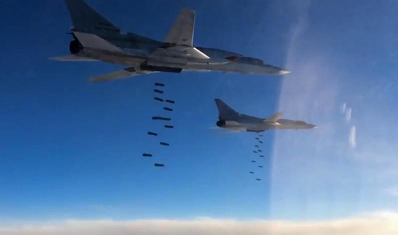 Six Russian Tu-22M3 Strategic Bombers Strike Daesh Targets in Syria