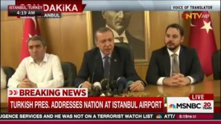 Erdogan kills the coup with his return to the airport