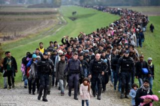Refugees area being used as a weapon of mass destruction once again