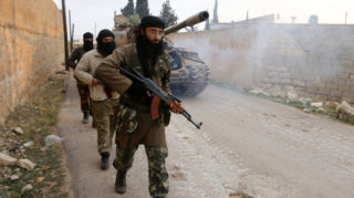Syrian terrorists are counter attacking Assad forces with armor now. courtesy of Western and Gulf State supporters