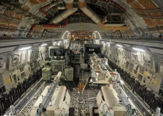 The bay of a Boeing C-17 Globemaster III