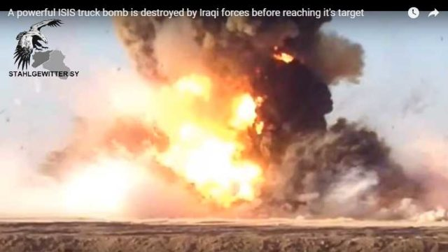 10 silných videí sebevražedných automobilů Islámského státu, které se podařilo zničit