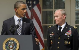 Obama with former JCOS Dempsey
