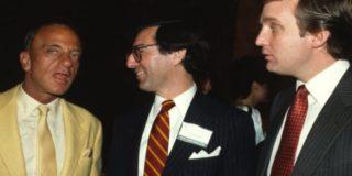 Roy Cohn (L), Trump (R)