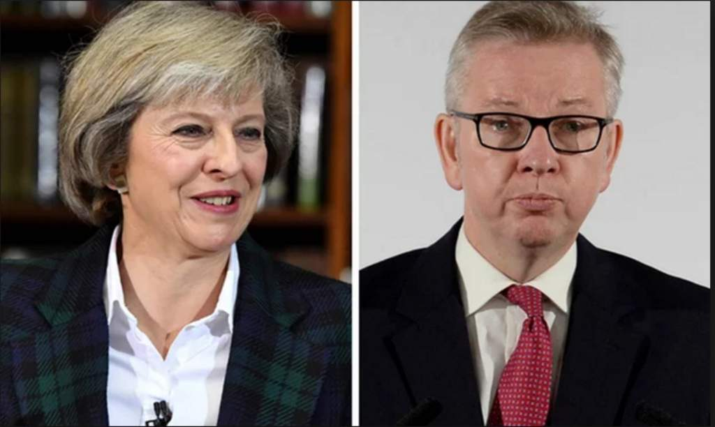 Gove is the one on the right...or is it the left?