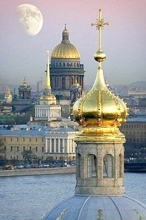Seven golden domes of St. Petersburg