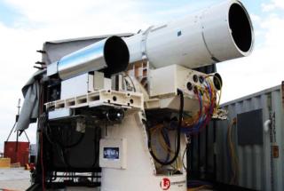 US Navy shipboard laser weapon