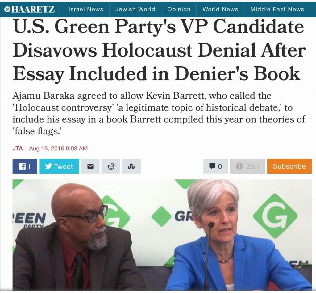 "zionists launch ""holocaust denial"" smear into us presidential  1 baraka stein haaretz"