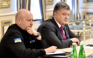Poroshenko with his extremist Interior Minister Arsen Avakov