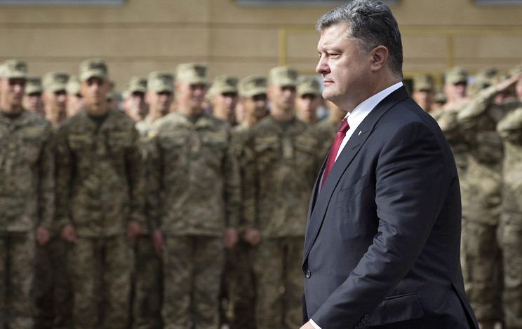 Poroshenko puts all units on border with Crimea, in Donbass on combat alert