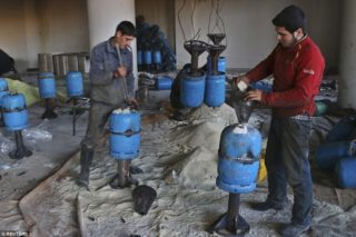 "The rebels have rained their ""barrel bombs"" down on the Aleppo civilians"
