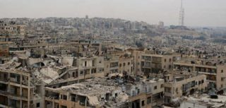 The destroyed city of Aleppo