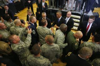 Obama visits CENTCOM