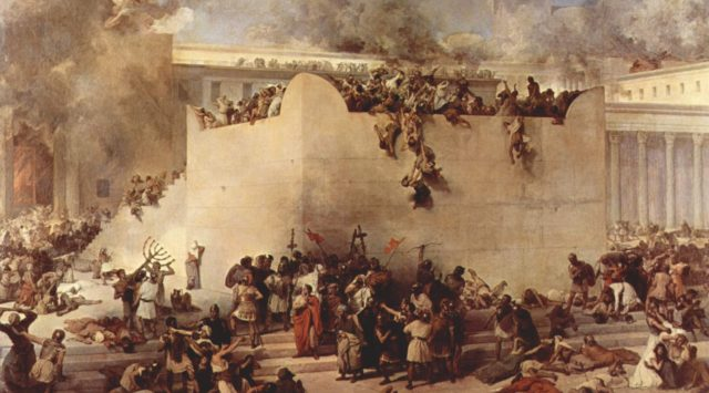 The storming of the Temple - Francesco Hayez