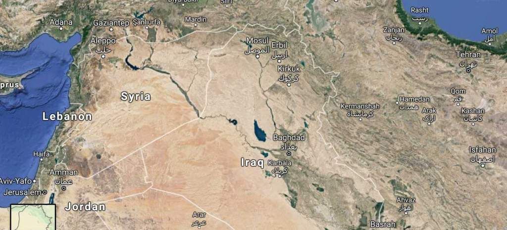 Hamadan airfield in Iraq_map wide
