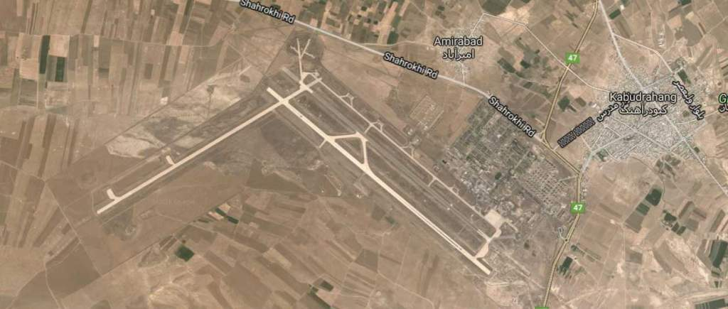 Hamadan Air Base, north of the city