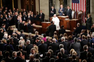 Pope Francis addresses the US Congress