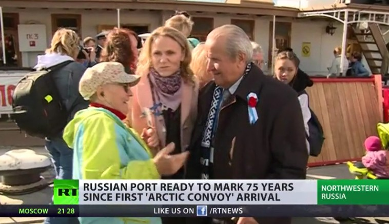 WWII veterans travel to northern Russia to mark 75th anniversary of heroic Arctic Convoys