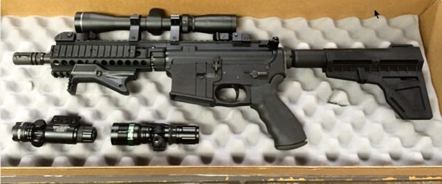 "Customer ""unwrapping"" photo of their custom AR pistol...somewhere in Texas"