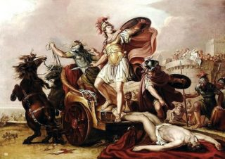 Who will end up being dragged behind the chariot?