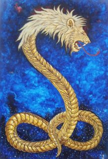 Demiurge represented by the lion-faced serpent