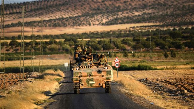 Turkey military pushing south after bombing northern Syria