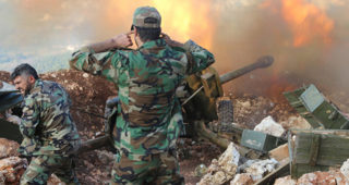 The Syrian Army is using artillery now inside Aleppo