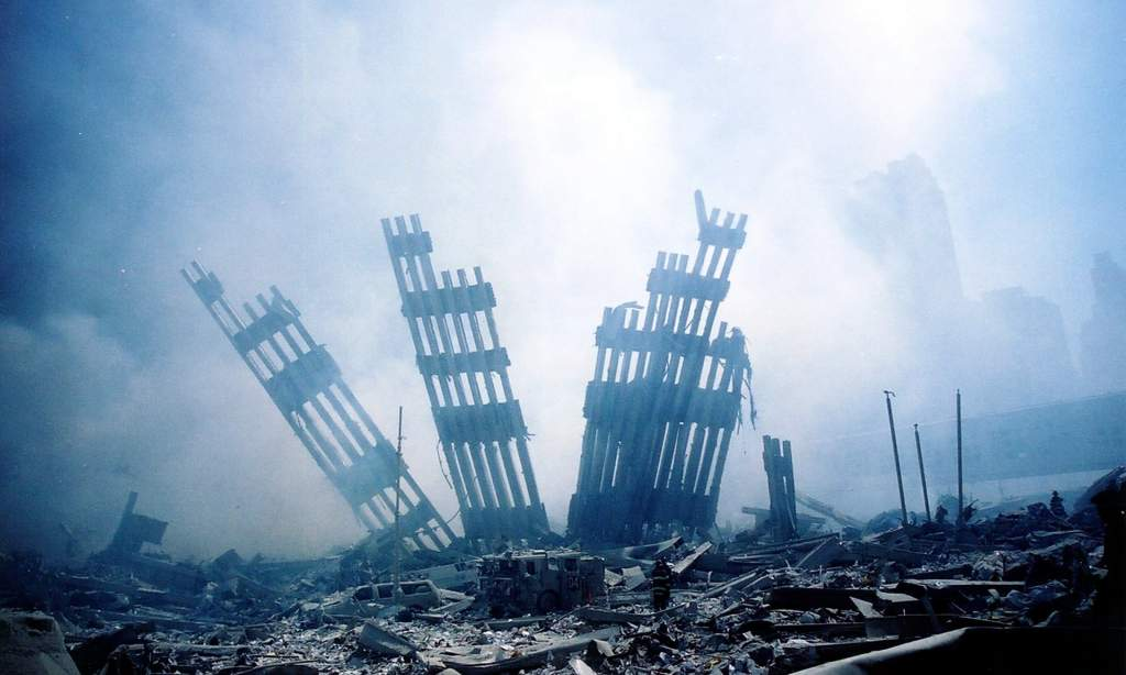 Rubble of 911, 2001