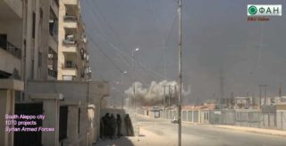 The bombs are almost falling on ruble in Aleppo as that might soon be all that is left