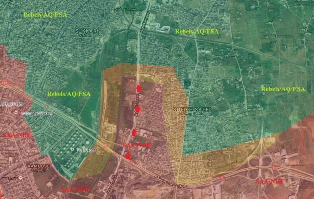 North Aleppo - Detailed maps don't allow for mistakes when the lines have been static for two years like in Deir Ezzor