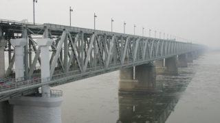 The Amur river bridge