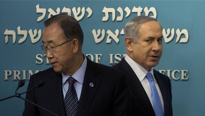 UN chief slams Bibi's support for settlement expansion in West Bank