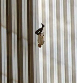 Falling Man - A name I gave to this iconic image - the symbolism of America being throw off the roof, gangster style