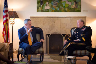 US Consul General Michael Ratney and Gen Martin E. Dempsey, US chairman of the Joint Chiefs of Staff, meet at the Consulate General of the United States Jerusalem, Israel on Mar. 31, 2014. DOD photo by D. Myles Cullen