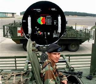 LRAD can broadcast speech for up to 300 meters