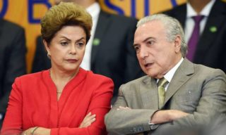 Dilma Rousseff with Michel Temer - Unfortunately, when you let the enemy past the palace guards, you can expect to be stabbed in the back while you sleep