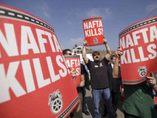 Although not forgotten, NAFTA is a non issue in the presidential election