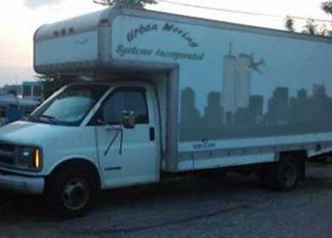 Was this Urban Moving Systems van somehow involved in the controlled demolition of Hillary Clinton?
