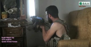 A lot of house to house fighting lingers in Aleppo