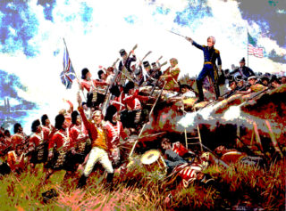 Depiction of Andrew Jackson at Battle of New Orleans