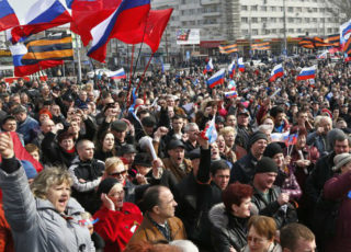 Donetsk shows solidarity with Russia