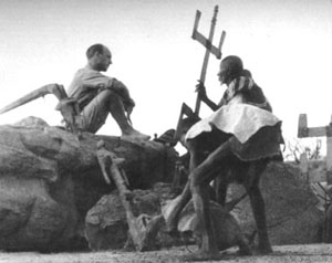 Marcel Griaule with the Dogon