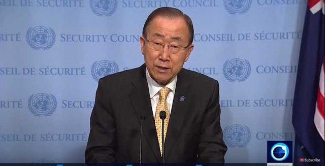 Ban ki-Moon really takes a whack at the Saudis for Yemen funeral bombing