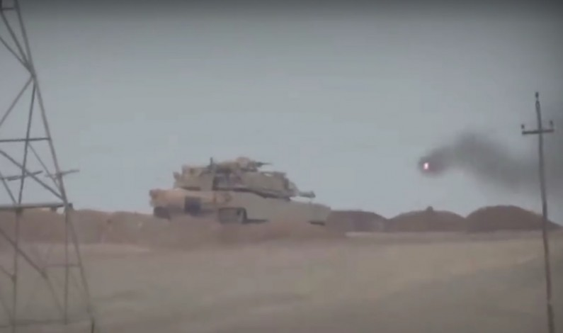 ISIS Takes Out M1A Abrams Tank with American TOW Missile (video)