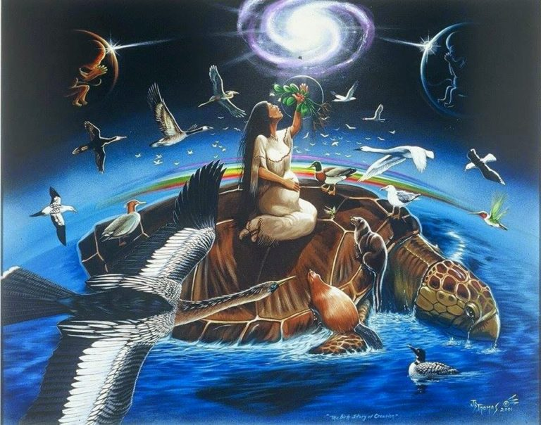 iroquois creation myth a review Iroquois creation myth values and norms revealed about the culture - belief that good always trumps evil - forgiveness: nature towards women after her husband threw.