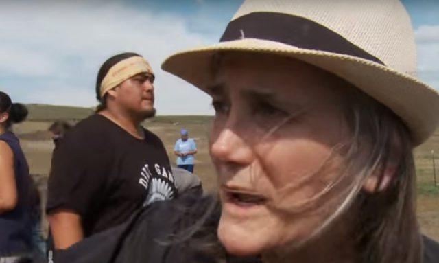 Amy Goodman reporting on the Dakota Access Pipeline. (image: Democracy Now!)