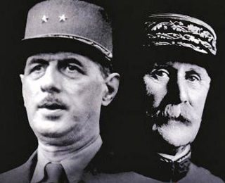 Charles De Gaulle and Pétain