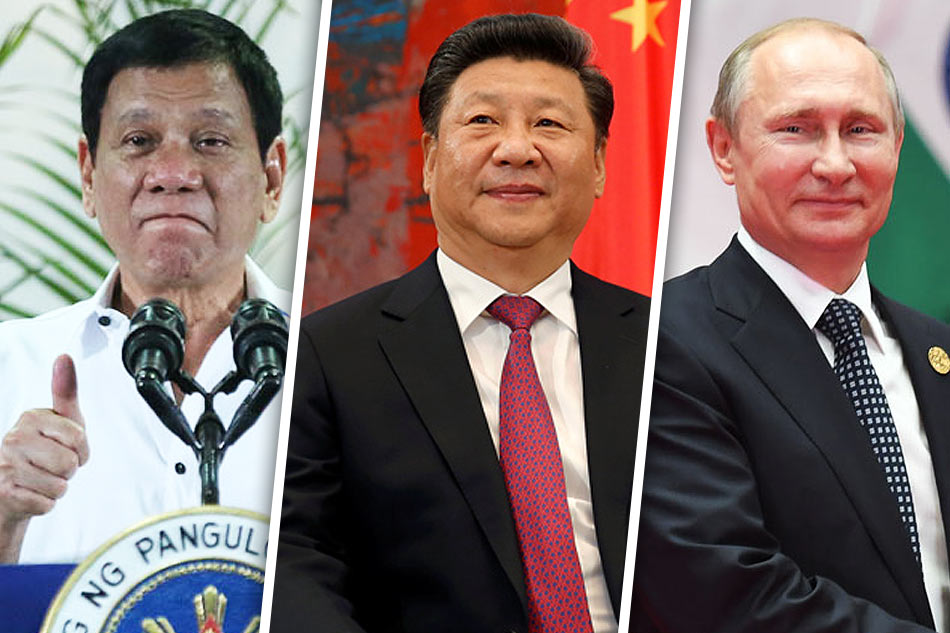 """""""I will also go to Russia to talk to Putin and tell him that there are three of us against the world—China, the Philippines, and Russia. It's the only way."""""""