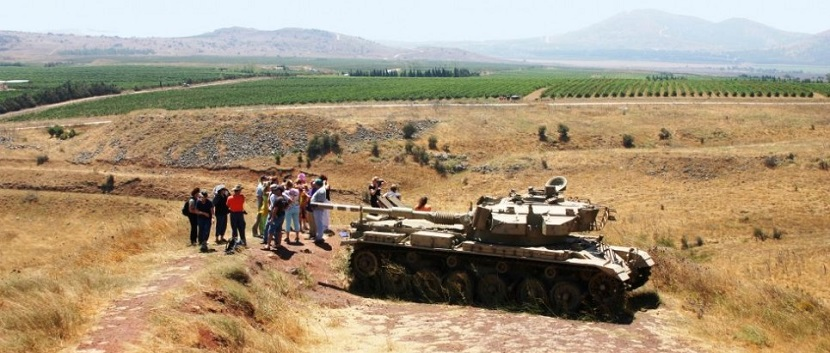 The Valley of Tears (Emek Habaha), where Israel stopped the Syrians in 1973