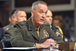 General Dunford is riding the wind on US keeping the military involved with regime change without too much blowback